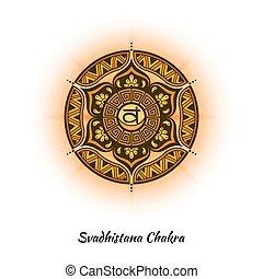Svadhistana chakra design - Svadhistana chakra symbol used...