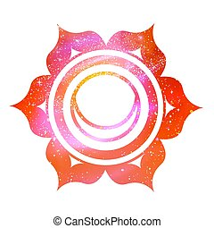 Svadhisthana chakra with outer space