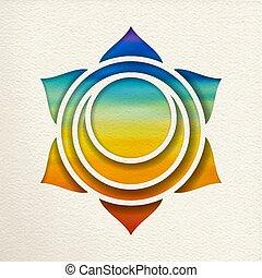 Svadhisthana sacral chakra design for yoga
