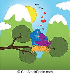 S.Valentine birds