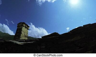 Svan tower in viliage - Shooting free standing Svan towers...