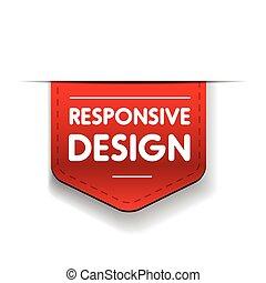 svars-, design, röd remsa
