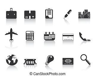 svart, affärsverksamhet ikon