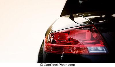 svart, bil