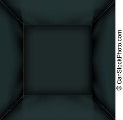 svart, enkel, tömma rum, inre