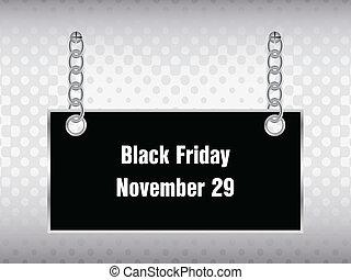 svart, fredag, baner, speciell