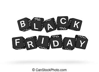 svart, fredag, formge grundämne