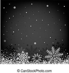svart, jul, bakgrund