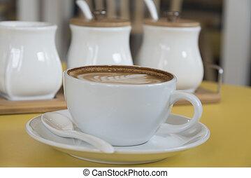 svart kaffe, espresso, skott