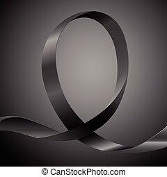 svart, medvetenhet, band