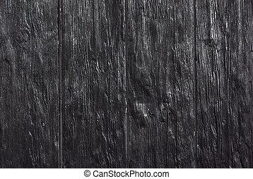 svart, plankor
