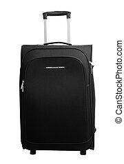 svart, resväska