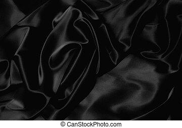 svart, silke