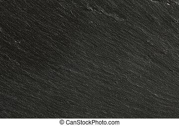 svart, skiffer, närbild, struktur