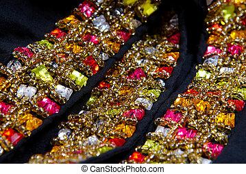 svart, smycken, bakgrund, vacker