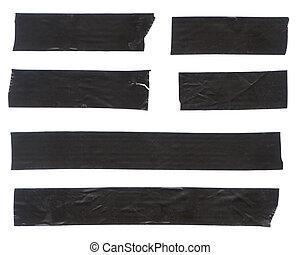 svart, tejpa