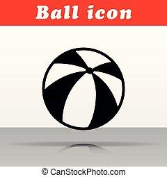 svart, vektor, design, boll, ikon