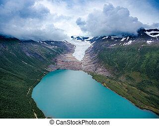 Svartisen Glacier in Norway.