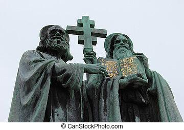 svatý, cyril, methodius, socha