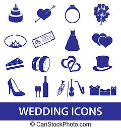 svatba, ikona, dát, eps10