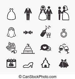 svatba, ikona