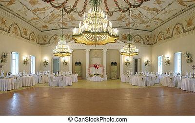 svatba, jídelna