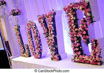 svatba, květiny