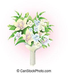 svatební hostina kytice