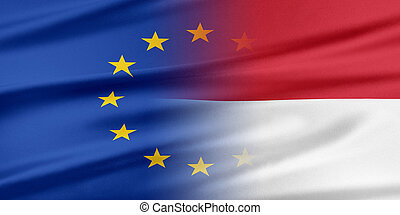 svaz, indonesia., evropský