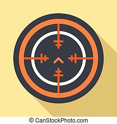Svd gun aim icon, flat style - Svd gun aim icon. Flat...