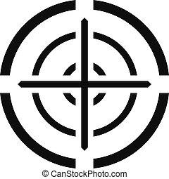 Svd gun aim icon, simple style