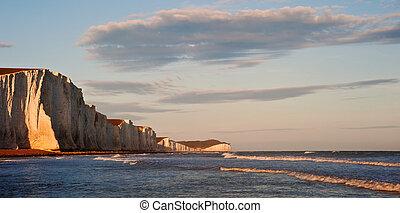 Sven Sisters Cliffs South Downs England landscape -...