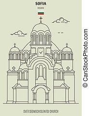 Sveti Sedmochislenitsi Church in Sofia, Bulgaria. Landmark...