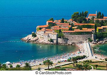 sveti, stefan, cluburlaub, in, montenegro