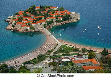 sveti, stefan, eiland, in, budva, montenegro