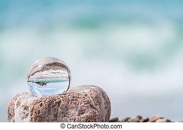 Sveti Stefan in a glass ball