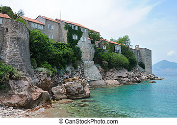 Sveti Stefan island, Adratic sea