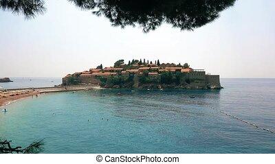 Sveti Stefan island in Montenegro - Famous Sveti Stefan in...