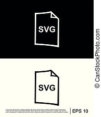 svg, bestand, formaat, pictogram, mal