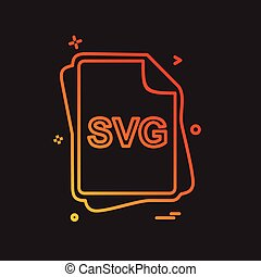 svg, bestand, type, pictogram, ontwerp, vector