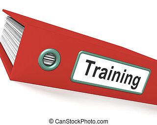 sviluppo, addestramento, educazione, file, mostra