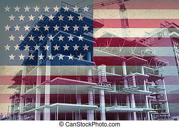 sviluppo, americano, economico
