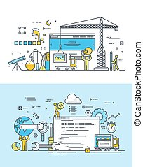 sviluppo, appartamento, concetti, web