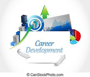 Sviluppo, concetto, affari, carriera, grafico, segno