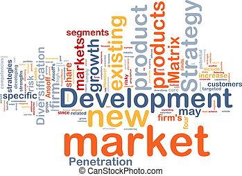 sviluppo, concetto, mercato, fondo
