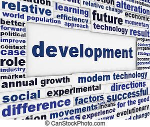 sviluppo, concettuale, messaggio, fondo
