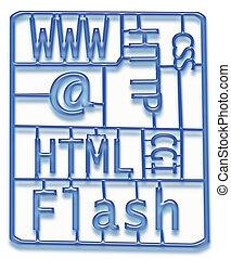 sviluppo, disegno web, kit