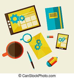 sviluppo, disegno web, workflow