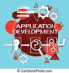 sviluppo, domanda, concetto, codificazione