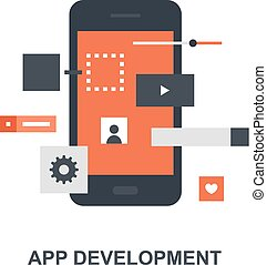 sviluppo, domanda, concetto, icona